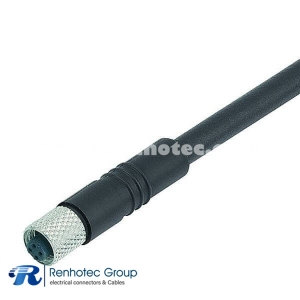 M5 Cable Assembly Overmolded 4Pin Female Straight Cable Solder Single Ended Cable 26AWG 1M