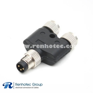 Adapter M8 3Pin Male to Dual Female Y Type Splitter