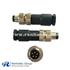 5 Pin M8 Connector B Code Male Straight Screw-Joint Non-shield