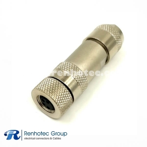 M8 Connector 4 Pin Female Field Wireable Screw-Joint Shield Straight