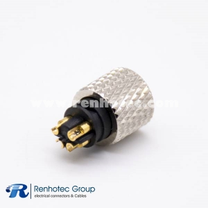 M8-4 Connector Female Molded Cable Solder Non-shield Straight