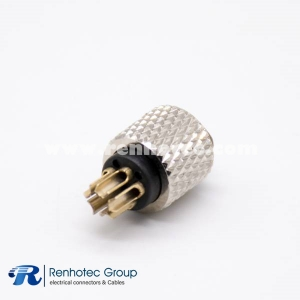 M8 5 Pin Female Connector B Code Molded Cable Straight Solder Non-shield