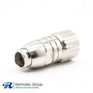 M16 Connector 6Pin Female Field Wireable Connector Straight Cable Screw-Joint Shield Metal