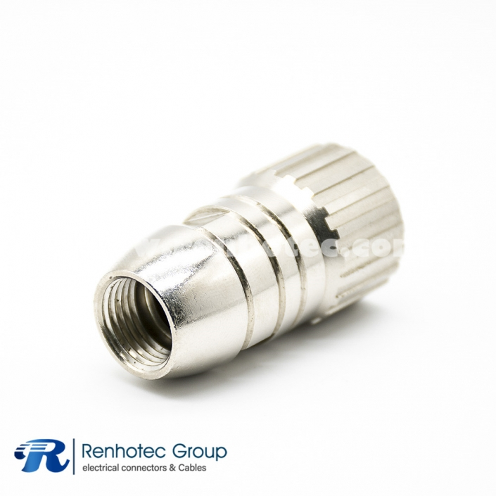 M23 Connector 6 Pin Male Field Wireable Connector Straight Cable Screw-Joint Shield Metal