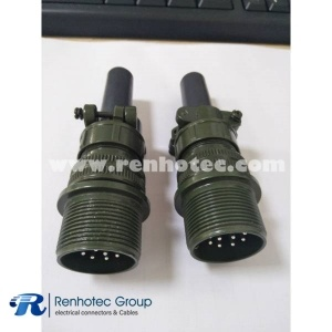MS3101A18-12P 6 Pin Male Cable Connecting Receptacle Straight Size 18 Solder Pin Contact
