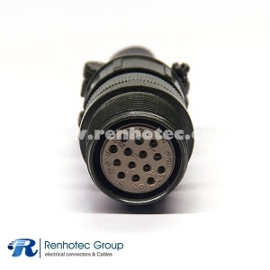 MS3101A20-27S 14 Pin Cable Connecting Receptacle Size20 Threaded Coupling Military Connector