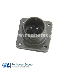 MS3102A14S-9PBox Mount Receptacle 2 Pin Solder Contacts Olive Drab Chromate Plating Connector