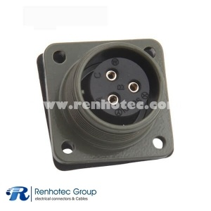 MS3102A16-10S Industrial Box Mount Receptacle 3 Pin Female Military Circular Connector