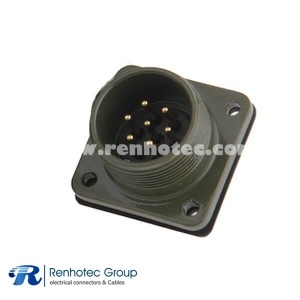 MS3102A16S-1P Spacecraft MIL-5015 Metal 16S Size 7 *16 Pin Box Mount Receptacle Circular MIL Spec Connector