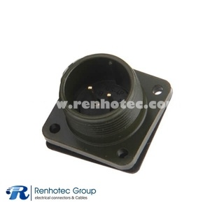 MS3102A16S-4P Olive Box Receptacle Class A Size 16S 2 *16 Solder Contact Circular MIL Spec Connector