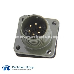 MS3102A18-12P Box Mount Receptacle 6 Pin Male Socket Connector