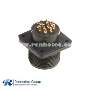 MS3102A18-19P Gold Plated Contact 10 Way Male Box Mount Receptacle Military Connector