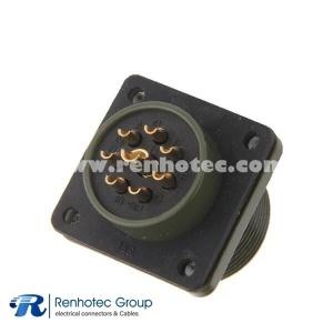MS3102A18-8P 8 POS Solder Box Mount Receptacle 8 Terminal Automotive Connector