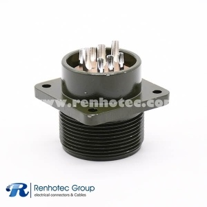 MS3102A20-18P Panel Mount Receptacle 9 Pin Solder Contacts Olive Drab Chromate Plating Connector