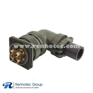 MS3102A32-17P Circular Box Mount Receptacle 4 Pin Solder Pin Contact