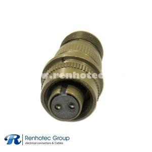 MS 3106A-10SL-4S 2 POS Female Circular Solder Straight Plug Connector