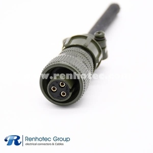 MS3106A10SL-3S 3Pin16 Straight Plug Metal Circular Connector Solder Socket