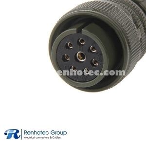 MS3106A18-8S Metal Straight Plug 1*12 7*16 Solder Socket Multi Cable Terminal Connectors