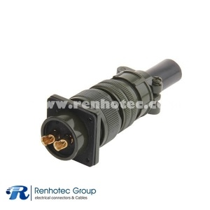 MS3106A20-23S 2 Position Soldering Plug Circular Connector With Bushing