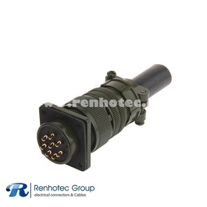 MS3106A20-7S Straight Socket Cable Plug 8 Contact Circular Military Connector