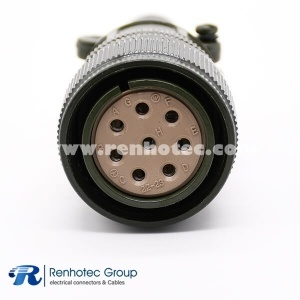 MS3106A22-23S 8 Pin Straight Plug Military Connector 8#12 Solder Socket Contact