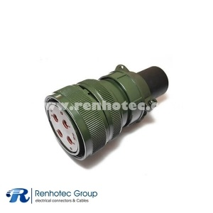 MS3106A32-17S Straight Plug Military 5015 Circular 4 POS Solder Cable Connector