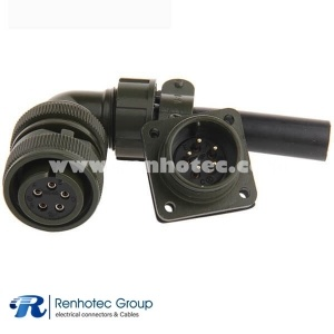 MS3108A16S-8S Right Angle Copper Contact 5 Pin Socket Cable Mount Circular MIL Spec Connector
