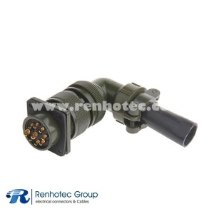 MS3108A20-16S Right Angle Plug Class A Size 20 9 Contact Circular Military Connector