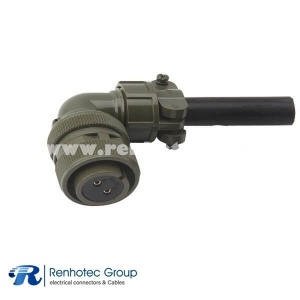 MS3108A20-23S Right Angle Military 2 Pin Female Plug Circular Connector