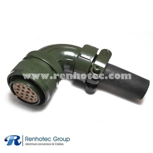 MS3108A22-19S MIL-DTL-5015 Circular Straight 14 POS Solder Right Angle Plug Connector