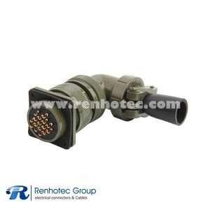 MS3108A24-5S Right Angle Plug 16 Contacts Connector for AWG16 Cable
