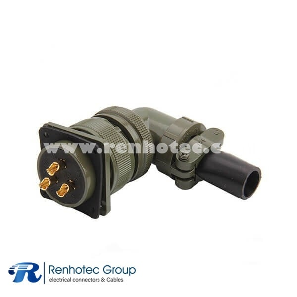 MS3108A28-3S Amphenol Industrial 3 Way Right Angle Plug Solder Cup Connector