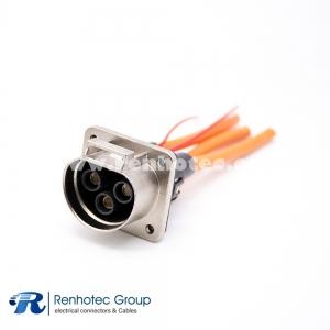 HVIL PlugHVSL Cable Metal Socket  3Pin 35A 3.6mm 6mm² Straight A Key 0.1m Cable