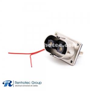 High Voltage Metal Socket 2 Pin 125A 6mm M6 Screw Holes U Key