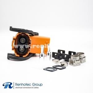 Right Angle Plastic Plug HVIL Series 2Pin 150A 6mm 25mm² A Key ip67 Shield
