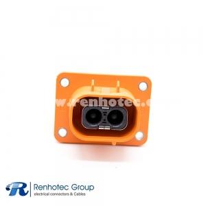 Plastic Socket HVIL Series 2Pin 16A/23A/35A/50A 3.6mm Straight ip67 A Key Electric Car Connectors