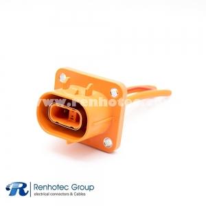 HVIL Voltage Interlock Loop HVSL Cable Plastic Socket 2Pin 23A 2.8mm 4mm² Straight A Key 0.1m Cable