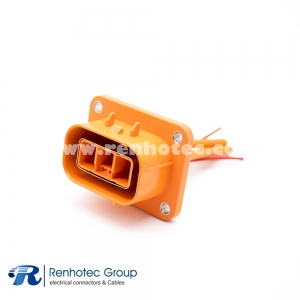 High-Voltage HVSL Cable Plastic Socket 3Pin 23A 2.8mm 4mm² Straight A Key 0.1m Cable