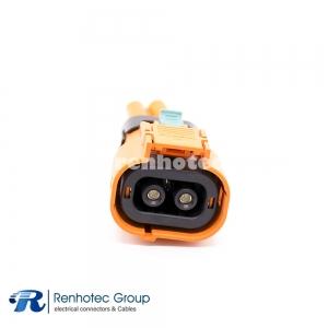 IP67 HVIL Series 2 Pin High Current Plastic Plug 3.6MM Contact IP67 Electric Car Connectors A Key