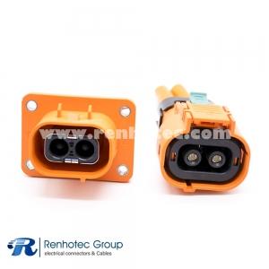 HVIL Series 2 Pin 16A/23A/35A/50A Plug&Socket High Current Plastic Electric Car Connectors
