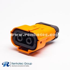 150A Plastic Plug HVIL Series 2Pin 6mm Straight A Key ip67