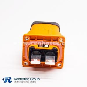 Plug&Socket Plastic HVIL Series 2Pin 150A 6mm φ6.5 Through Holes A Key ip67 Straight Shield