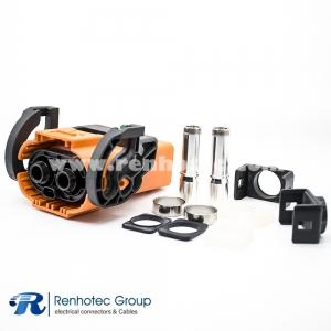 200A Plug Plastic HVIL Series 8mm 25mm²/35mm²/50mm² Right Angle A Key ip67 Shield