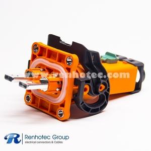 200A HVIL Series Plastic 2Pin Plug&Socket 8mm φ6.5 Through Holes A Key ip67 Shield