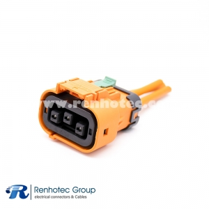 High Voltage Safety Lock HVSL Cable Plastic Plug 3Pin 23A 2.8mm 4mm2 Straight A Key 0.1m Cable