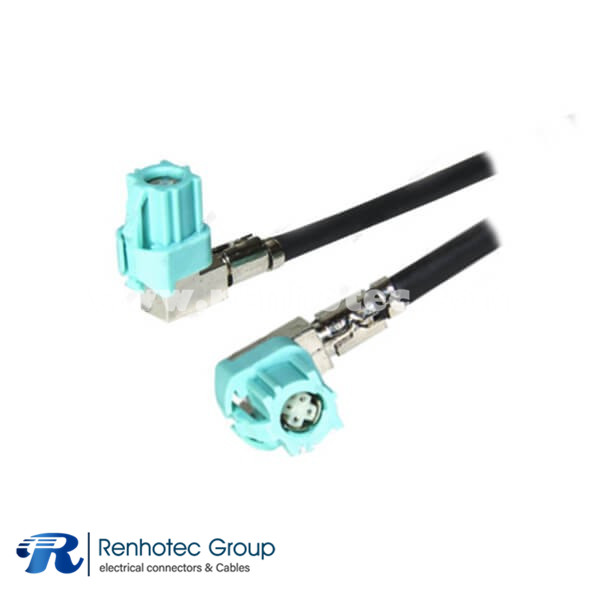 LVDS Video Cable Assembly 4Pin Z Code Female to Female HSD Extension Cable 1M