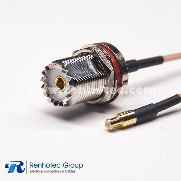 UHF Antenna Cable Extension SO239 to Straight MCX Male RG316 Coaxial Cable
