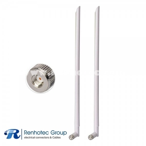 2.4GHz White Antenna RP-SMA WiFi Antenna for WiFi Router Extender Booster
