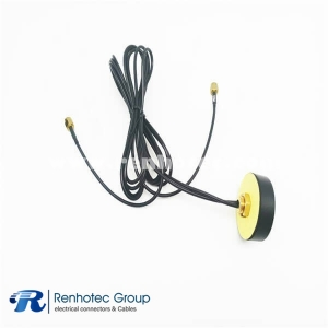 High Gain 4G LTE GPS Antenna Dual Band Navigation Combined Aerial Wall Mount with SMA Male Cable 1M