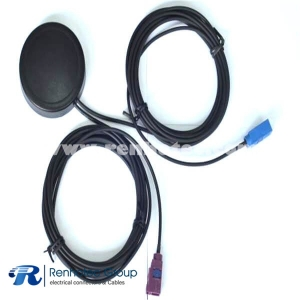 Multi Band GPS GSM Combined Antenna Roung Adhesive Mounted for Car With Dual Fakra Connector